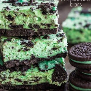 Mint Cookies and Cream Cheesecake Bar Recipe by The Recipe Critic