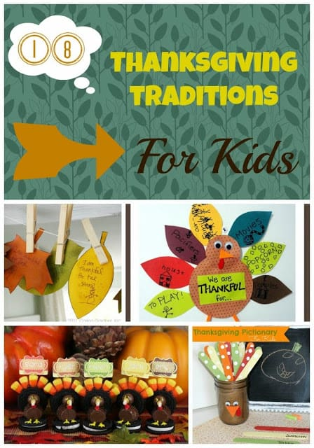 thanksgiving traditions collage