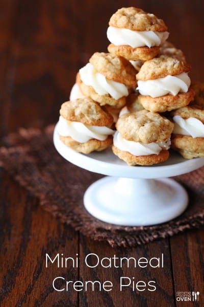 Mini Oatmeal Creme Pies - One of the Best Amazing Cookie Recipes for the Holiday Season. The Recipe Critic, Alyssa Rivers, The Amazing Cookie Exchange. Best Holiday Cookie Recipes!