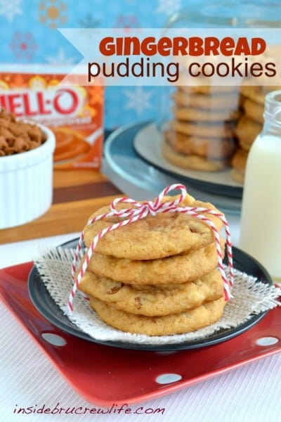 Gingerbread Pudding Cookies - One of the Best Amazing Cookie Recipes for the Holiday Season. The Recipe Critic, Alyssa Rivers, The Amazing Cookie Exchange. Best Holiday Cookie Recipes!