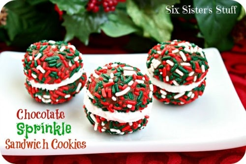 Chocolate Sprinkle Sandwich Cookies - One of the Best Amazing Cookie Recipes for the Holiday Season. The Recipe Critic, Alyssa Rivers, The Amazing Cookie Exchange. Best Holiday Cookie Recipes!