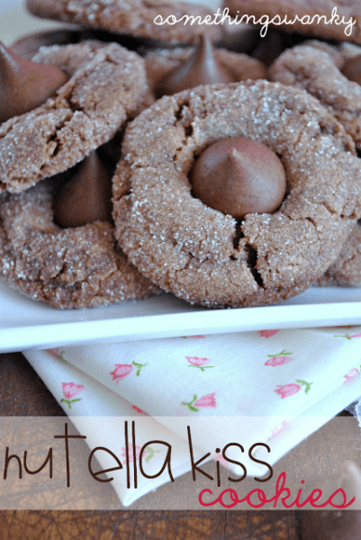 Nutella Kiss Cookies - One of the Best Amazing Cookie Recipes for the Holiday Season. The Recipe Critic, Alyssa Rivers, The Amazing Cookie Exchange. Best Holiday Cookie Recipes!