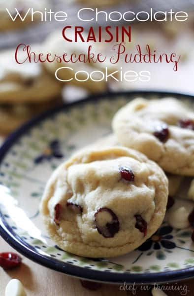 White Chocolate Craisin Cheesecake Pudding Cookies - One of the Best Amazing Cookie Recipes for the Holiday Season. The Recipe Critic, Alyssa Rivers, The Amazing Cookie Exchange. Best Holiday Cookie Recipes!
