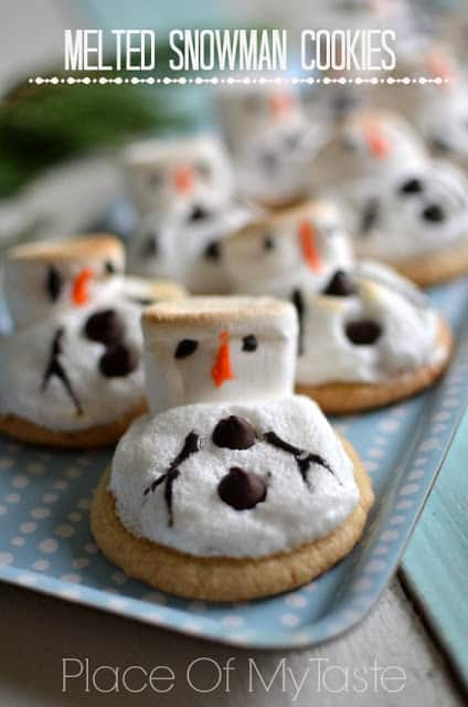 Melted Snowman Cookies, @ placeofmytaste.com