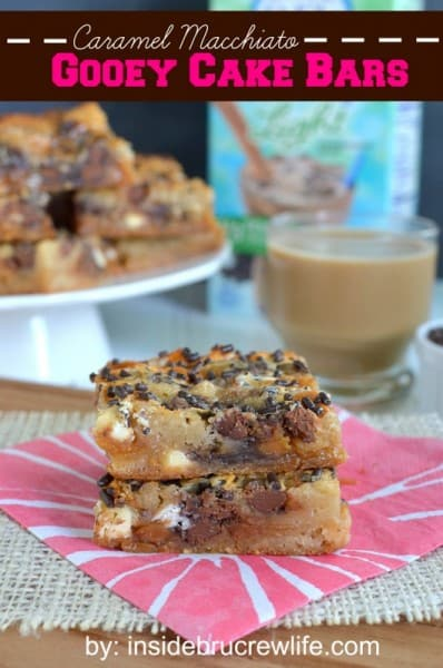 Caramel Macchiato Gooey Cake Bars - One of the Best Football Party Snacks and Recipes for the New Season. The Recipe Critic, Alyssa Rivers. Best Game Day Football Snacks, Appetizers & Sweet Treat Recipes!