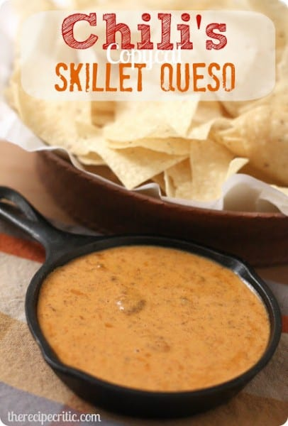 Chili's Skillet Dip - One of the Best Football Party Snacks and Recipes for the New Season. The Recipe Critic, Alyssa Rivers. Best Game Day Football Snacks, Appetizers & Sweet Treat Recipes!