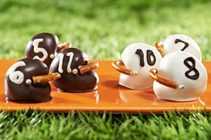 Oreo Football Helmet Cookies - One of the Best Football Party Snacks and Recipes for the New Season. The Recipe Critic, Alyssa Rivers. Best Game Day Football Snacks, Appetizers & Sweet Treat Recipes!
