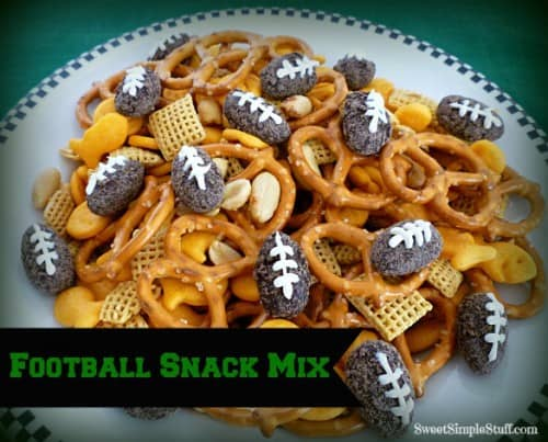 Football Snack Mix - One of the Best Football Party Snacks and Recipes for the New Season. The Recipe Critic, Alyssa Rivers. Best Game Day Football Snacks, Appetizers & Sweet Treat Recipes!