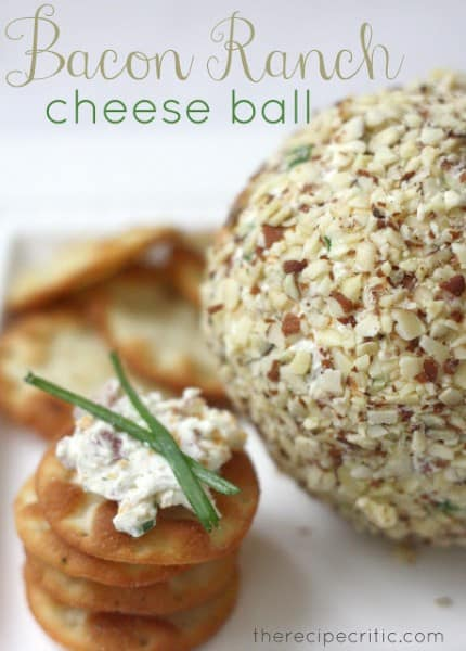 Bacon Ranch Cheese Ball - One of the Best Football Party Snacks and Recipes for the New Season. The Recipe Critic, Alyssa Rivers. Best Game Day Football Snacks, Appetizers & Sweet Treat Recipes!