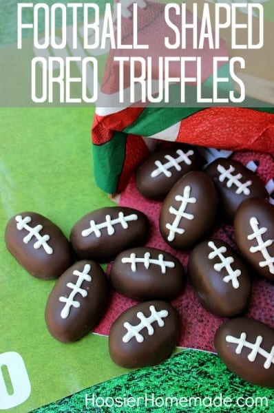 Football Shaped Oreo Truffles - One of the Best Football Party Snacks and Recipes for the New Season. The Recipe Critic, Alyssa Rivers. Best Game Day Football Snacks, Appetizers & Sweet Treat Recipes!
