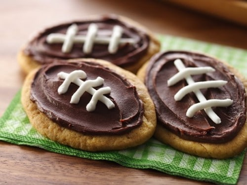 Frosted Peanut Butter Cookies - One of the Best Football Party Snacks and Recipes for the New Season. The Recipe Critic, Alyssa Rivers. Best Game Day Football Snacks, Appetizers & Sweet Treat Recipes!
