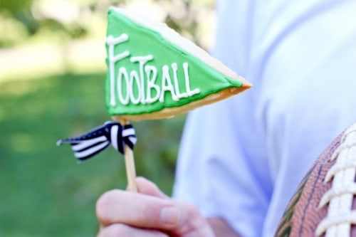 Football Pennant - One of the Best Football Party Snacks and Recipes for the New Season. The Recipe Critic, Alyssa Rivers. Best Game Day Football Snacks, Appetizers & Sweet Treat Recipes!