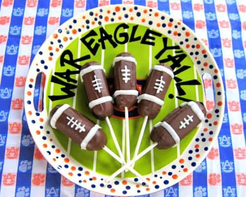 Football Twinkie Pops - One of the Best Football Party Snacks and Recipes for the New Season. The Recipe Critic, Alyssa Rivers. Best Game Day Football Snacks, Appetizers & Sweet Treat Recipes!
