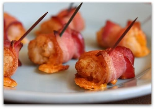 Bacon Wrapped Tator Tots - One of the Best Football Party Snacks and Recipes for the New Season. The Recipe Critic, Alyssa Rivers. Best Game Day Football Snacks, Appetizers & Sweet Treat Recipes!
