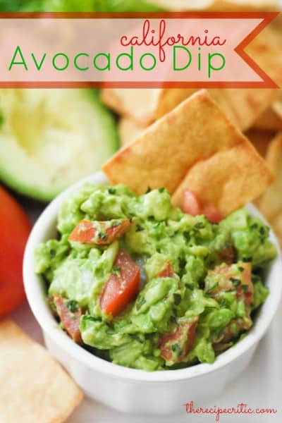 California Avocado Dip - One of the Best Football Party Snacks and Recipes for the New Season. The Recipe Critic, Alyssa Rivers. Best Game Day Football Snacks, Appetizers & Sweet Treat Recipes!
