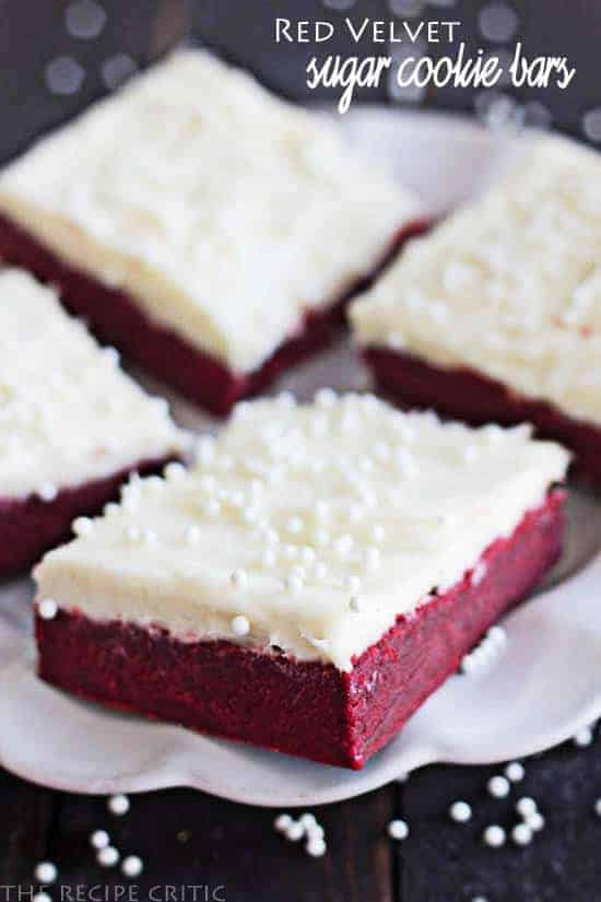 Red Velvet Sugar Cookie Bars with Cream Cheese Frosting » Chicken ...