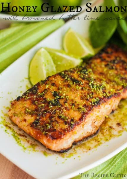 Honey Glazed Salmon - One of the Best 30 Minute Meals and Recipes. The Recipe Critic, Alyssa Rivers. Keep Your Meals Simple!