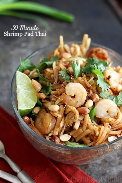 Shrimp Pad Thai - One of the Best 30 Minute Meals and Recipes. The Recipe Critic, Alyssa Rivers. Keep Your Meals Simple!