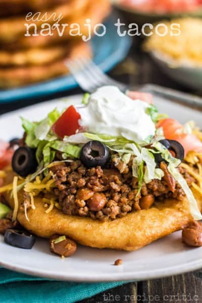 Easy Navajo Tacos - One of the Best 30 Minute Meals and Recipes. The Recipe Critic, Alyssa Rivers. Keep Your Meals Simple!