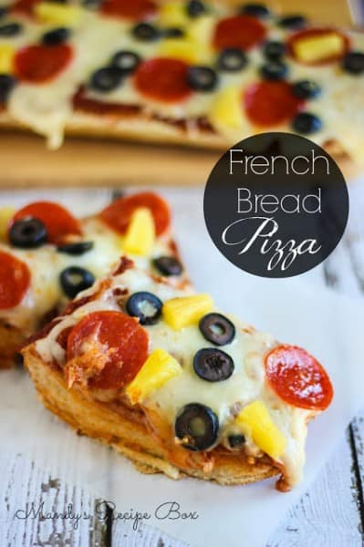 French Bread Pizza - One of the Best 30 Minute Meals and Recipes. The Recipe Critic, Alyssa Rivers. Keep Your Meals Simple!