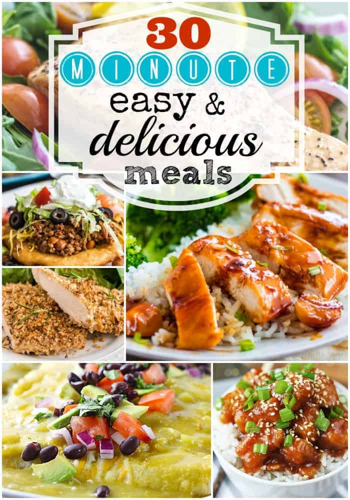 The Best 30 Minute Meals and Recipes | 30-minute-meals-collage