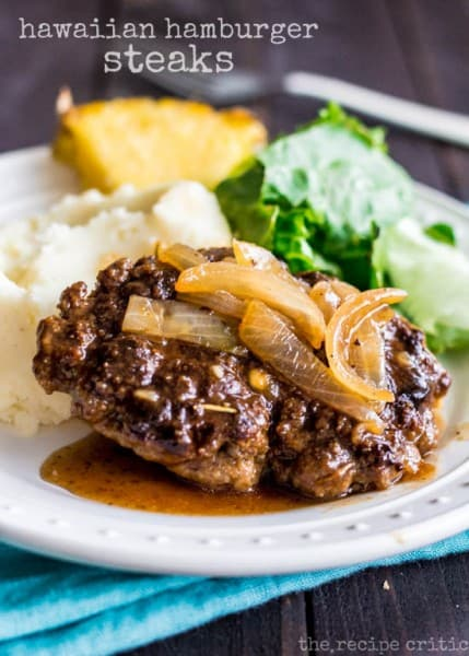 Hawaiian Hamburger Steaks - One of the Best 30 Minute Meals and Recipes. The Recipe Critic, Alyssa Rivers. Keep Your Meals Simple!