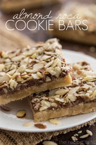 Almond Roca Cookie Bars
