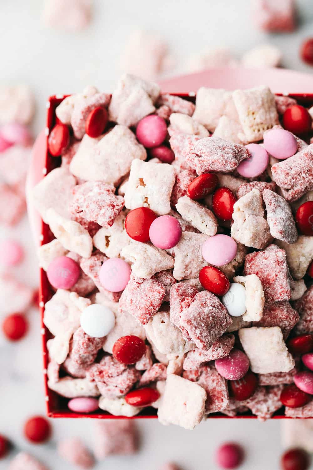 Overhead shot of Sweetheart Valentine's buddies in a red box.