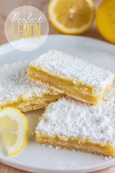 Perfect Lemon Bars - One of the Best Lemon Recipes. The Recipe Critic, Alyssa Rivers.