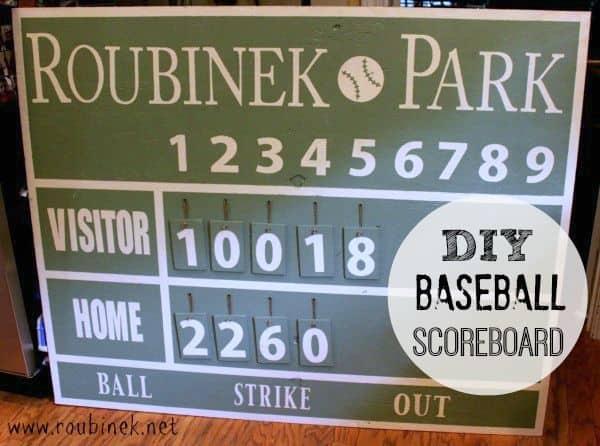 DIY Baseball Scoreboard