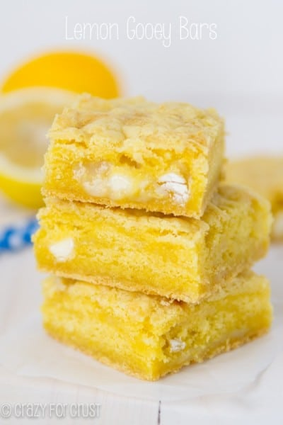 Lemon Gooey Bars - One of the Best Lemon Recipes. The Recipe Critic, Alyssa Rivers.