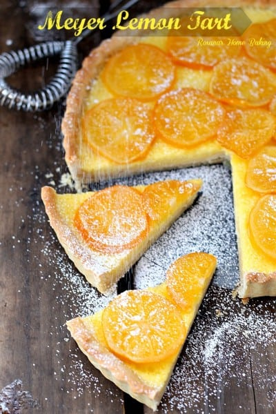 Meyer Lemon Tart - One of the Best Lemon Recipes. The Recipe Critic, Alyssa Rivers.