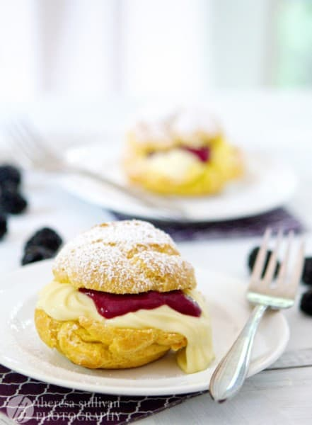 Lemon Blackberry Creampuffs - One of the Best Lemon Recipes. The Recipe Critic, Alyssa Rivers.