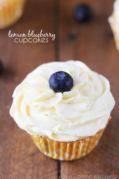 Lemon Blueberry Cupcakes - One of the Best Lemon Recipes. The Recipe Critic, Alyssa Rivers.