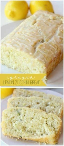 Glaze Lemon Zucchini Bread - One of the Best Lemon Recipes. The Recipe Critic, Alyssa Rivers.