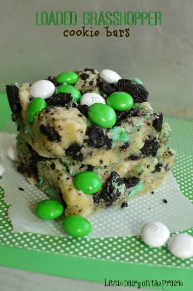 Loaded-Grasshopper-Bars-with-melt-in-your-mouth-cookies-are-a-mint-lovers-dream-Little-Dairy-on-the-Prairie