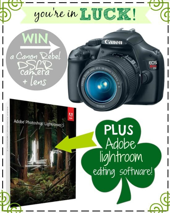 Canon DSLR Camera & Lightroom Photo Editing Software Giveaway!!