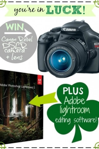 Get Lucky Canon Camera and Lightroom Giveaway
