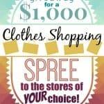 $1000 Clothes Shopping Spree!