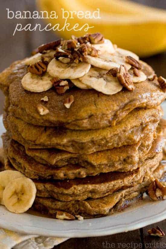 Banana Bread Pancakes | The Recipe Critic