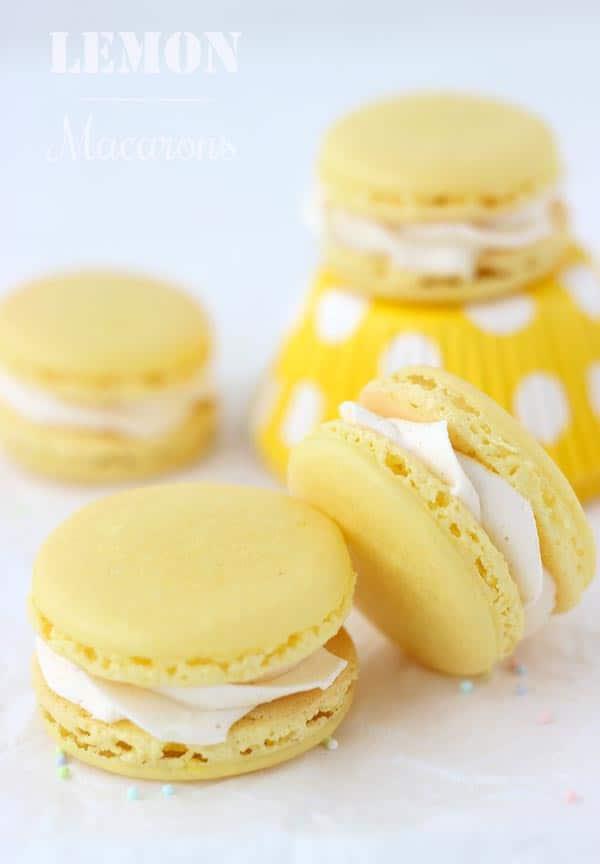 lemon-macarons