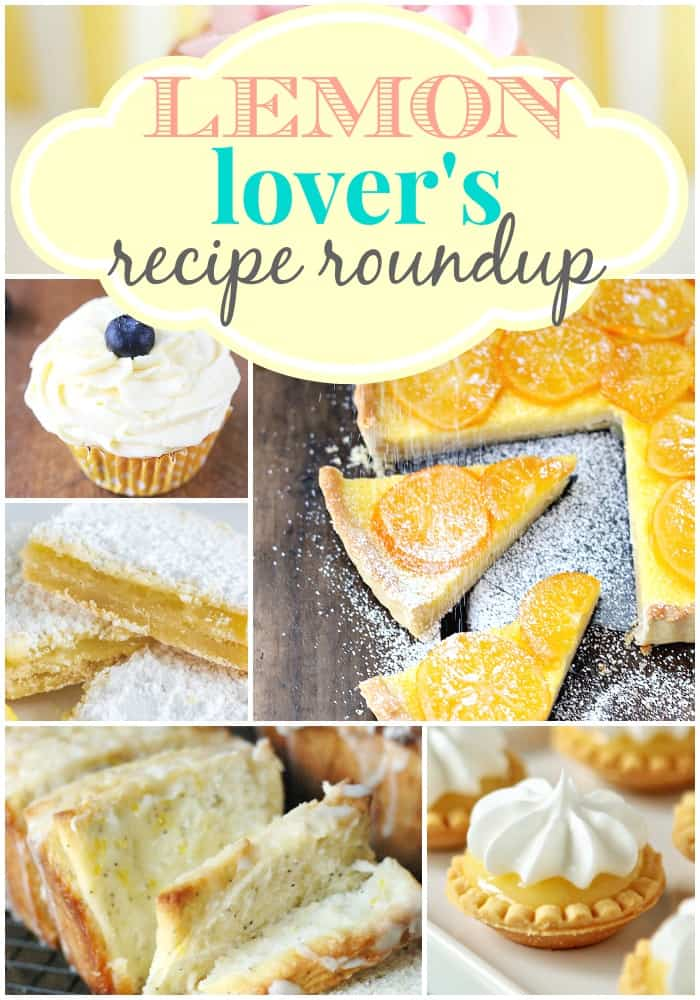 lemonroundupcollage - One of the Best Lemon Recipes. The Recipe Critic, Alyssa Rivers.