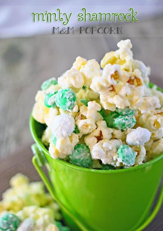 mint shamrock popcorn