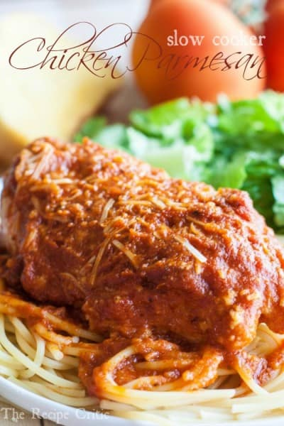 Slow Cooker Chicken Parmesan - One of the Best Easy Pasta Recipes. The Recipe Critic, Alyssa Rivers.