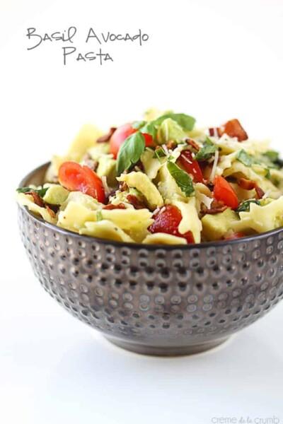 Basil Avocado Pasta - One of the Best Easy Pasta Recipes. The Recipe Critic, Alyssa Rivers.