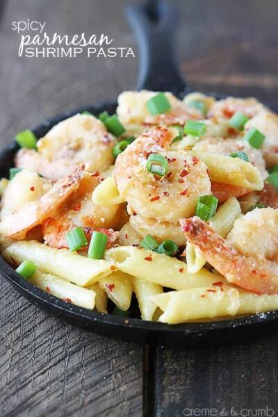 Spicy Parmesan Shrimp Pasta - One of the Best Easy Pasta Recipes. The Recipe Critic, Alyssa Rivers.