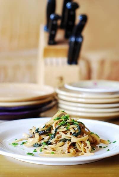 Creamy Mushroom Pasta - One of the Best Easy Pasta Recipes. The Recipe Critic, Alyssa Rivers.
