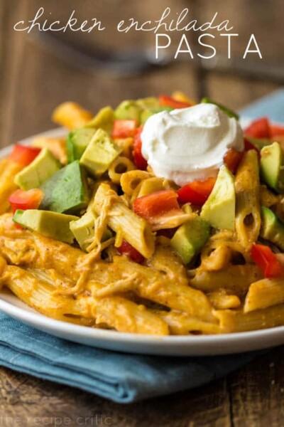 Chicken Enchilada Pasta - One of the Best Easy Pasta Recipes. The Recipe Critic, Alyssa Rivers.