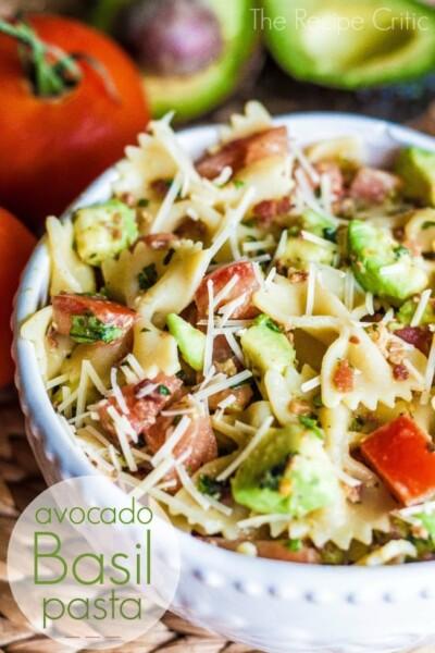 Avocado Basil Pasta - One of the Best Easy Pasta Recipes. The Recipe Critic, Alyssa Rivers.