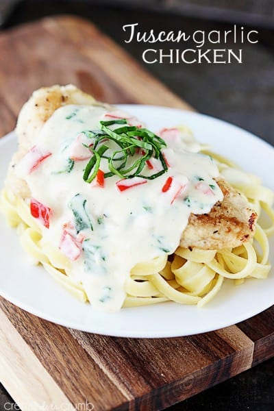 Tuscan Garlic Chicken - One of the Best Easy Pasta Recipes. The Recipe Critic, Alyssa Rivers.